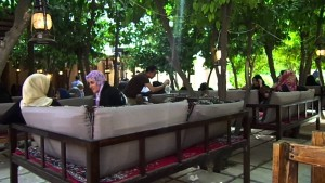 Restaurant in Tomb of Hafez